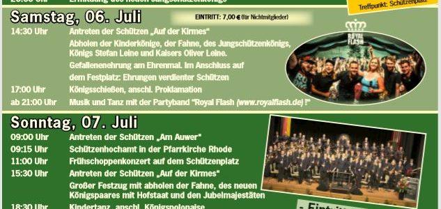 Programm Schützenfest 2019